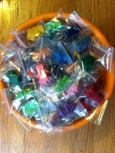 MAX'S WAX Robot Crayons 55 count party favor pack by FolkKeeper, $12.00