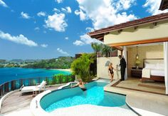 The Sunset Bluff Millionaire Butler Villa Suite w/Private Pool Sanctuary. | Sandals Resorts | St. Lucia