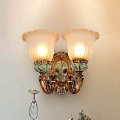 Glass Wall Lights, Wall Lighting, Sconce Lighting, Wall Mounted Lamps, Wall Lamps, Translucent Glass, Wall Light Fixtures, Metal Flowers, Glass Shades