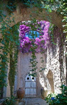 Arched Courtyard, Campania, Italy Italy <333
