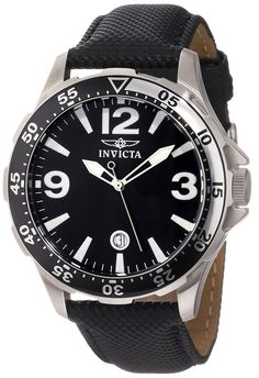 Invicta Men's 13839 Specialty Black Dial Black Nylon Watch -- Click image to review more details.