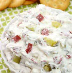 The classic Dill Pickle Wraps you love - in an easier to make, but just as delicious dip! With only 4 ingredients and less than 10 minutes to make, this will be your go-to appetizer! Dill Pickle Dip, Best Dinner Recipes, Dip Recipes, Holiday Recipes, Party Recipes, Yummy Recipes, Quick Appetizers, Appetizer Recipes
