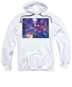 Roussillon Watercolor Sweatshirt featuring the painting Roussillon Moonlight by Sabina Von Arx Charcoal Color, Creative Colour, Hoodies, Sweatshirts, Moonlight, Graphic Sweatshirt, Watercolor, Top, Sweatshirt