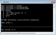 SQLPlus Pl/SQL block