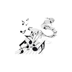 Picture of Music Notes On an Abstract Staff In a Vector Clip Art... ❤ liked on Polyvore featuring music, backgrounds, effects, text, saying, quotes, picture frame, phrase, borders and texture