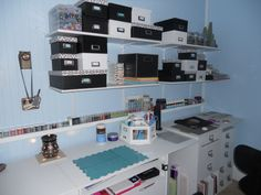 Scrapbooking room organization and more storage