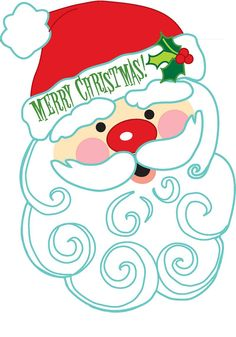MERRY CHRISTMAS SANTA CLIP ART