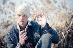 Beautiful white haired men