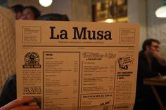 Carta del restaurante 'La Musa'