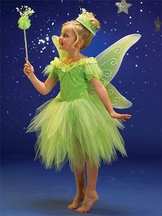 Tinker Bell, Disney Fairies, and more Fairy friends are all welcome here! Since the animated movies of Tinker Bell and the Disney Fairies, girls. Girl Costumes, Dance Costumes, Costume Ideas, Children Costumes, Disney Costumes, Tinkerbell Costume Toddler, Tinker Bell Costume, Fairy Birthday Party, Disney Fairies