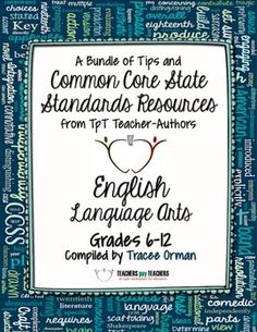 TpT FREE Common Core State Standards ELA eBook Resource filled with classroom tips and freebies to start the new school year (grades 6-12).