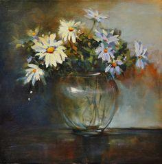 Daises With Glass Vase by artistwilder on deviantART