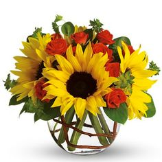 Naples Flowers - sunflower floral arrangement