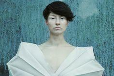 Geometry of nature fashion, manipulated sleeves, fashion at its best fabric manipulation