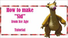 How to make Sid from Ice Age Polymer clay Fimo Fondant Tutorial Fondant Tutorial, Diy Tutorial, Ice Age Sid, Ice Age Cake, F Video, Clay Crafts, Dinosaur Stuffed Animal, Polymer Clay, Cakes