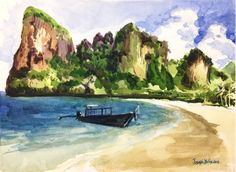Ao Nang beach Krabi Thailand Thailand art by Joseph D'silva on Etsy