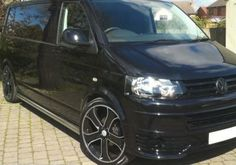 """4 x 20"""" New Black Alloy Wheels & Tyre Range Rover Vw T5 5x120 Stormer 255/35 20 Save On Tyres Direct Exeter 01392203051"""