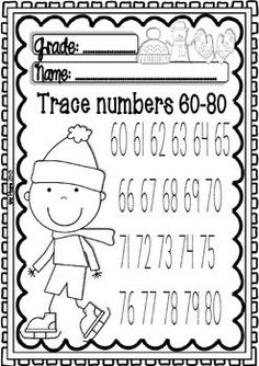 Maths and ELA WINTER Centers for Pre-k/1st Grade (Funny Sheets)