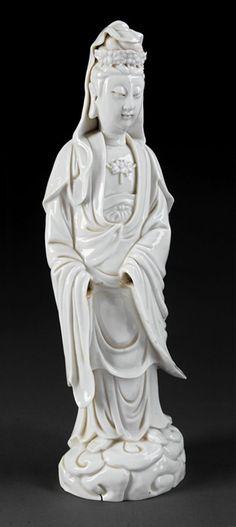 Chinese 'Blanc de Chine' Porcelain Guanyin