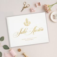 Foil Wedding Guest Book, Wedding Album, Wedding Guest Books, Gold Foil, Personalized Names Hardcover Wedding Guest Book, Our Wedding, Vow Book, Photo Corners, Self Inking Stamps, Industrial Wedding, Book Making, Guest Books, Wedding Invitations