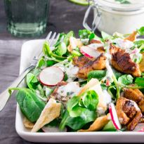 Chicken Shawarma and Pita Salad - Nicky's Kitchen Sanctuary