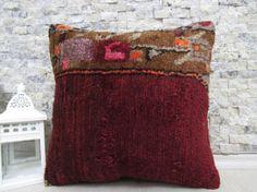 carpet pillow handmade pillow 16x16 tribal pillow bohemian pillow floor cushion decorative pillow sofa pillow aztec pillow morocco pillow