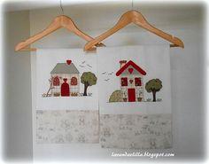Due disegni di casette per applicazioni su by Lavandaelilla