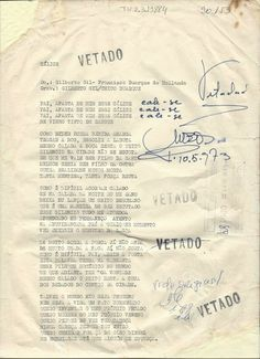 Calice censurada  ditadura militar no Brasil