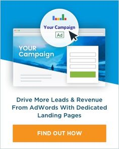 Drive more leads and revenue from Adwords with Landing Pages