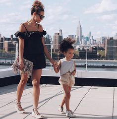 Mom and mini's summer look