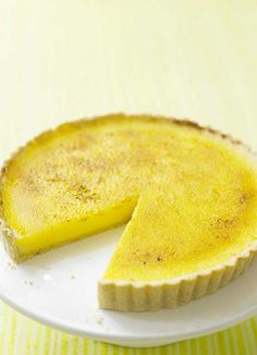 Lemon tart is an absolute classic and this recipe for caramelised lemon tart is a great version. You can make this ahead, so it's great for a dinner party.