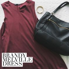 Brandy Melville Dress Extremely adorable burgundy/maroon dress from Brandy. NWOT - never before worn, and in amazing condition. It's a size small and meant to fit oversize  Brandy Melville Dresses Mini
