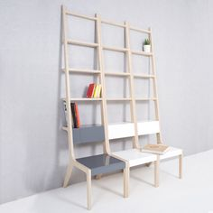 Chairs that double up as ladders, clotheshorses, shelves or lamps are part of a collection of furniture by Korean designer Seung-Yong Song.