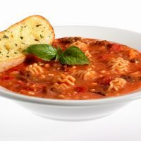 Lasagna Soup (maybe add some ricotta to the broth and change the type of noodles)