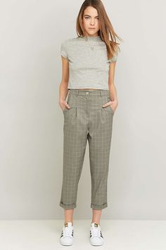 Urban Renewal Vintage Remnants Checked Trousers