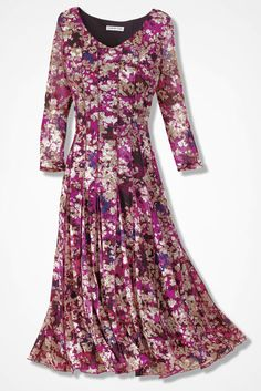 Floral Mesh Knit Dress - Coldwater Creek