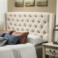 Home Loft Concepts Wicklow Upholstered Wingback Headboard & Reviews | Wayfair
