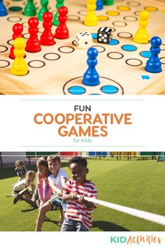 A collection of cooperative games for kids. Great for teaching kids how to work together as a team. #KidActivities #KidGames #ActivitiesForKids #FunForKids #IdeasForKids