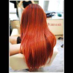 """@szaboeva.hair tartalmat tett közzé az Instagram-profiljában: """"❤️🔥 _________________________________ . . . . . . . . . #haj #fodrász #frizura #szaboevahair…"""" Red Orange Color, Color Melting, Mermaid Hair, Red Hair, Hair Color, Long Hair Styles, Hairstyles, Beauty, Instagram"""