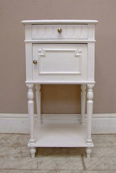 antique french bedside table
