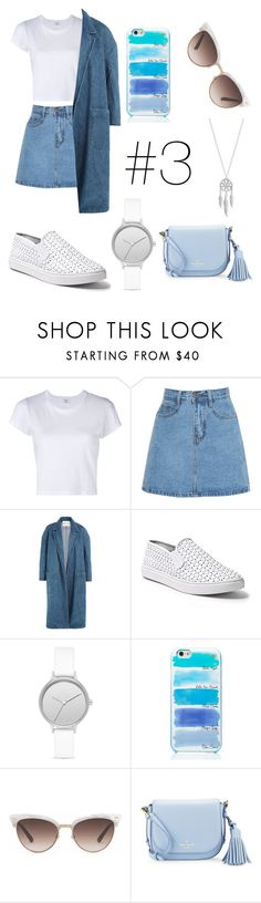"""#3"" by kimlydia1995 ❤ liked on Polyvore featuring Sandy Liang, Steve Madden, Skagen, Kate Spade, Gucci and Lucky Brand"