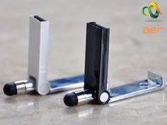 A multipurpose stylus for your Apple, Android phones and tablets with a phone holder and a waterproof USB flash drive.