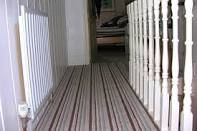 striped stair carpet - Google Search Hardwood Floors, Flooring, Stair Carpet, Landing, Google Search, Home Decor, Wood Floor Tiles, Wood Flooring, Decoration Home