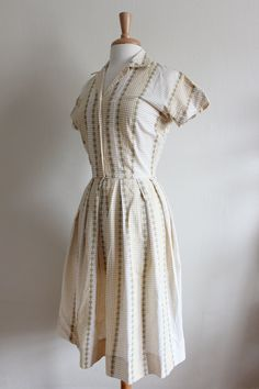 1950s Dress / Vintage don-about Gingham Day Dress by tobedetermined on Etsy