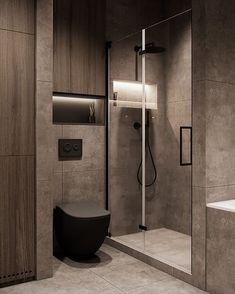 Washroom Design, Toilet Design, Bathroom Design Luxury, Bathroom Layout, Modern Bathroom Design, Small Bathroom, Modern Luxury Bedroom, Dark Bathrooms, Home Room Design