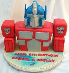 transformer cake--caden would love this!