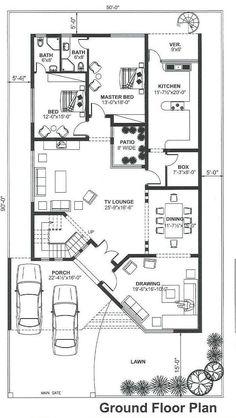 House Floor Design, 3 Storey House Design, Bungalow House Design, Narrow House Plans, Small House Floor Plans, Dream House Plans, Duplex Floor Plans, Apartment Floor Plans, Indian House Plans
