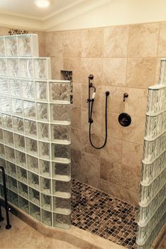 1000 images about glass block showers on pinterest for Glass block shower ideas