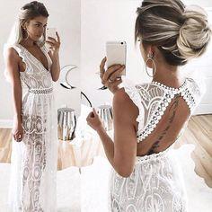 Une tenue hippie chic robe longue hippie chic ou robe courte blanche moderne style longue robe blanche transparente robe d'été pour la plage