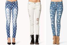 Conoce los ripped jeans de este verano 2015 en ZARA online. Vaqueros desgastados, rasgados, con rotos y efecto lavado para mujer.